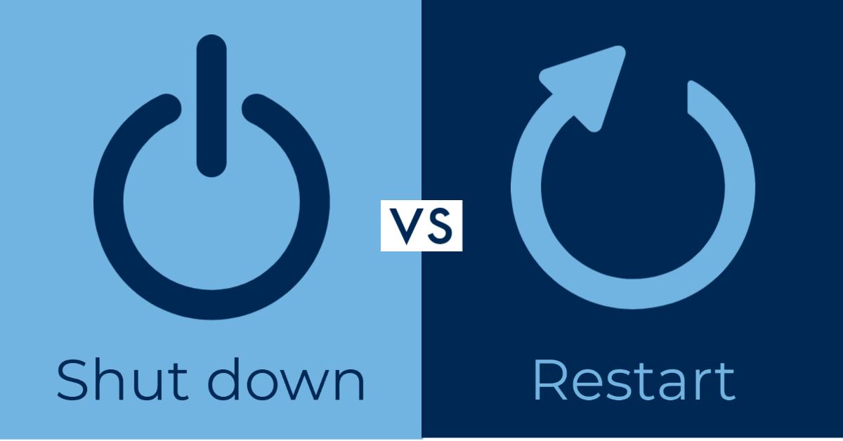 Shut vs restart